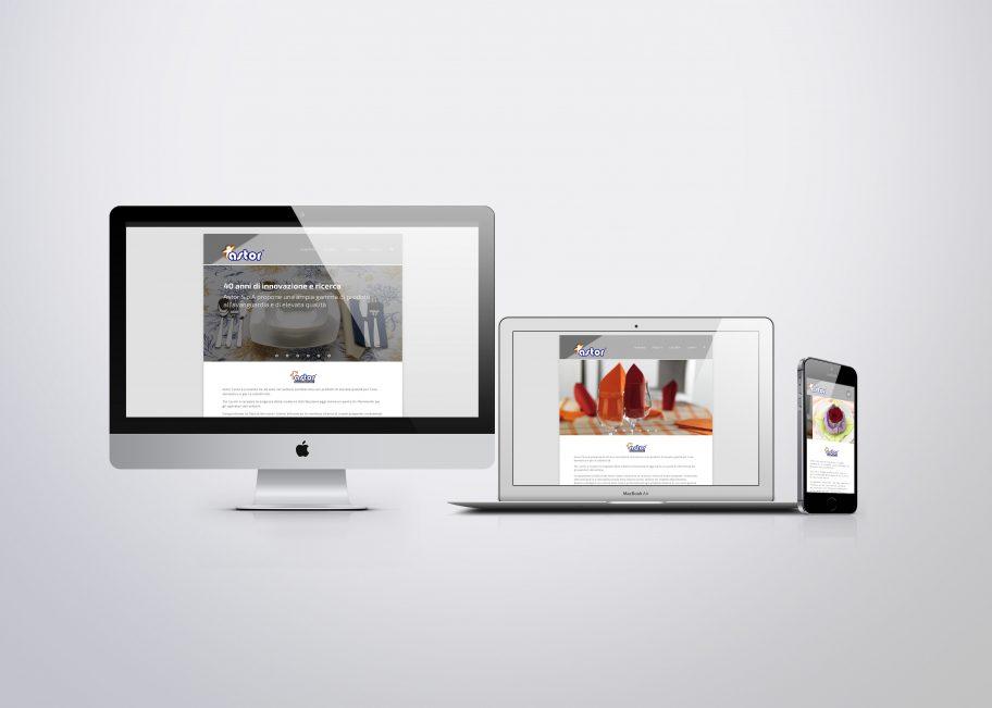 Sito web Astor Carta - Questo sito progettato da studio Grafica Monti consente di consultare il catalogo prodotti e visualizzare un pdf sfogliabile