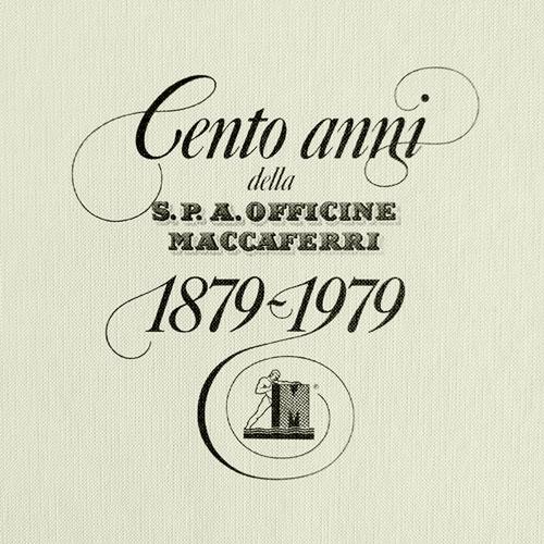 monografia maccaferri 100 anni copertina